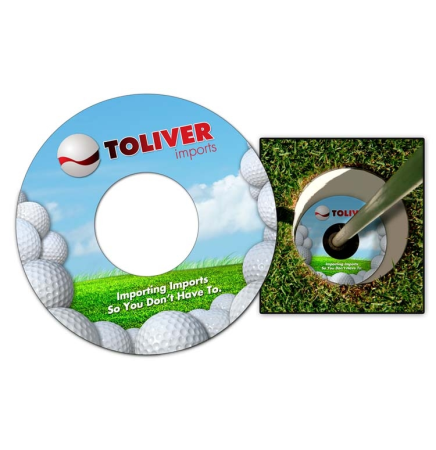 "Extra Thick UV-Coated Plastic Golf Cup Ad Ringer (3.75"" Diameter)"
