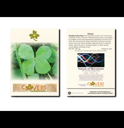 Clover Flower Seed Packet