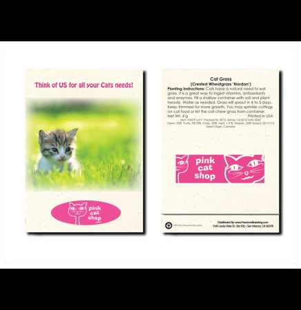 Cat Grass Seed Packet