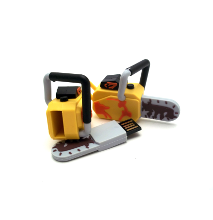 8 GB PVC Chainsaw USB Drive