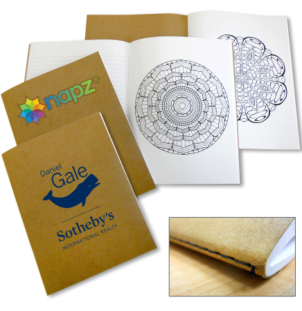 Made In USA Coloring Book with Mandalas and Notebook Paper