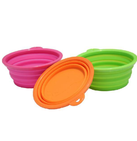 Foldable Pet Travel Feeding Bowl