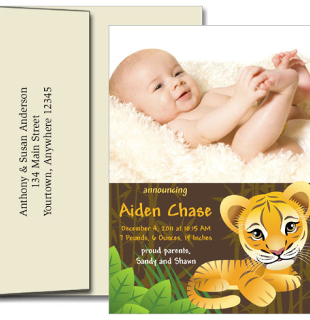 Birth Announcements w/Imprinted Envelopes