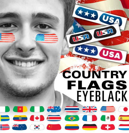 International Country Flags Eyeblack Eye Decoration - United States