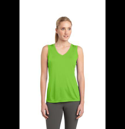 Sleeveless Competitor V-Neck Tee Shirt