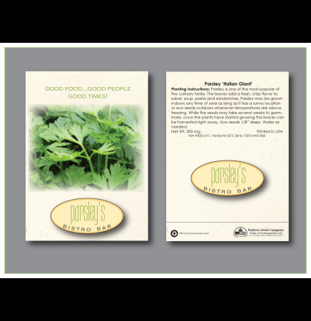 Parsley Italian Giant Seed Packet
