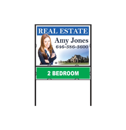 "Real Estate Sign Package - PVC Sign & Frame 24""x18"""