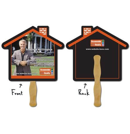 House Hand Fan Full Color (2 Sides)