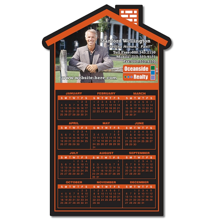 "20 Mil Real Estate House Shape Magnet (3.75""x6.125"")"