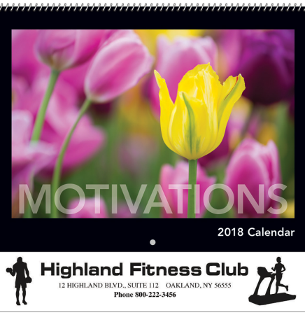 2018 Motivations Spiral Wall Calendar