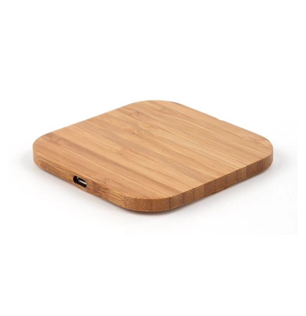 Bamboo square wireless charger