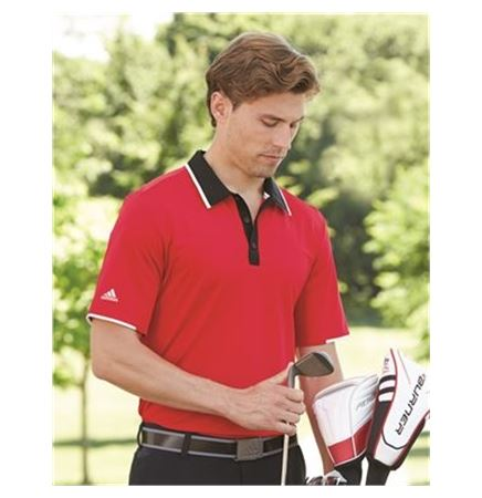 Adidas Golf Climacool Performance Coloblock Sport Shirt