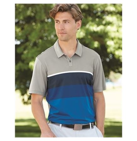 Adidas Golf Climacool Engineered Stripe Sport Shirt
