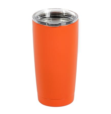 Powder Coated YETI® 20 Oz. Rambler™ Lowball Tumbler w/Lid- Orange