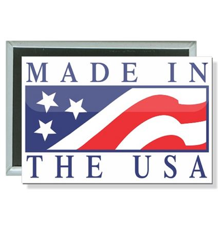 Political - Made in the USA - 3 X 2 Inch Rectangle Button