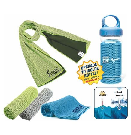 Microfiber Cooling Towel with Bottle