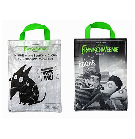 "Custom 120g  Laminated Translucent Woven PE Halloween Bag 8""x10"""