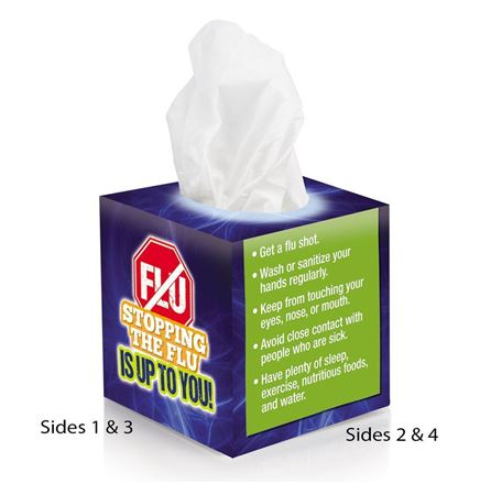 Stopping The Flu Is Up To You! Mini Tissue Box