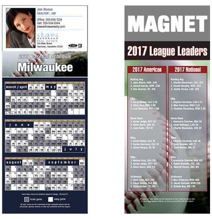 Direct Print Pro Baseball Schedule Magnet (3 1/2x8 1/2)